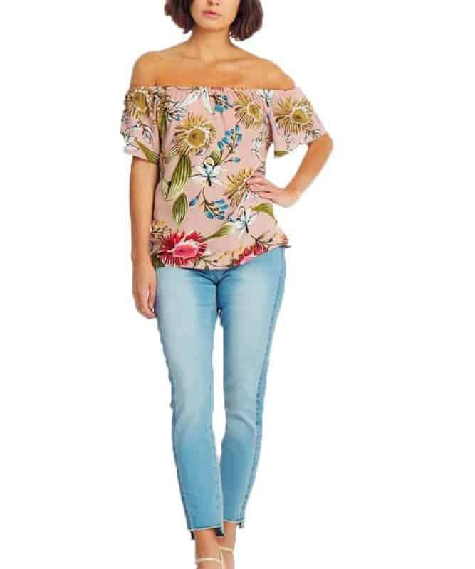 Fresh Made blúz női Carmen, flower print