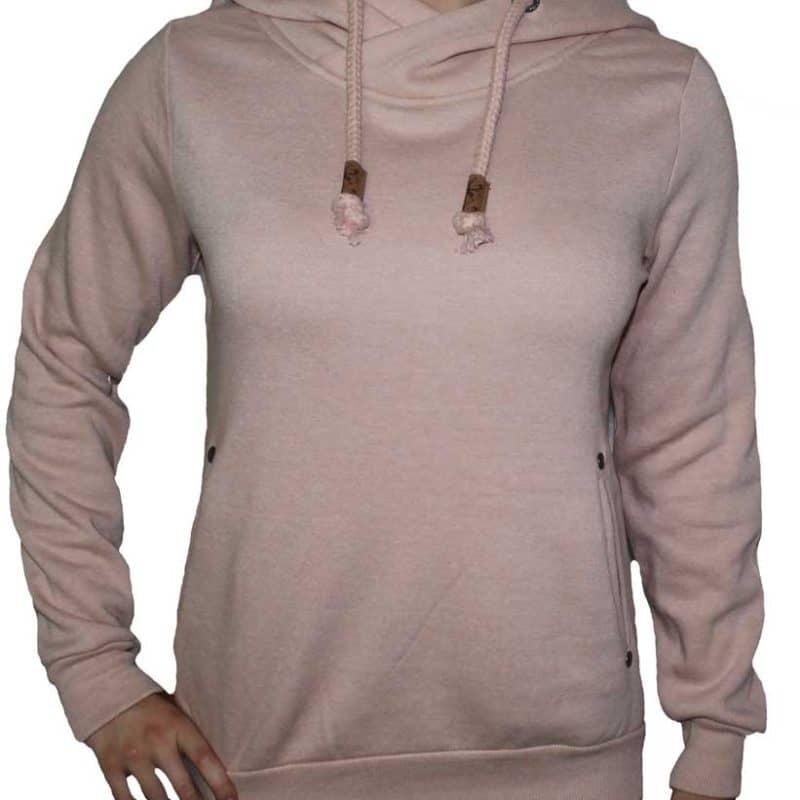 Sublevel pulóver női,  hoodie, middle rose