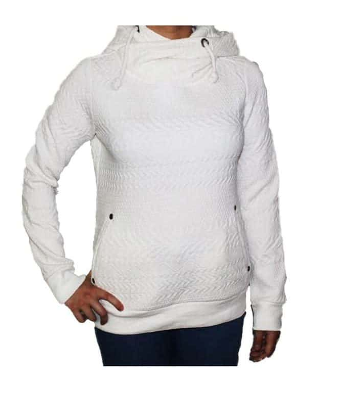 Sublevel pulóver női (Germany) hoodie, patterned material, white, M