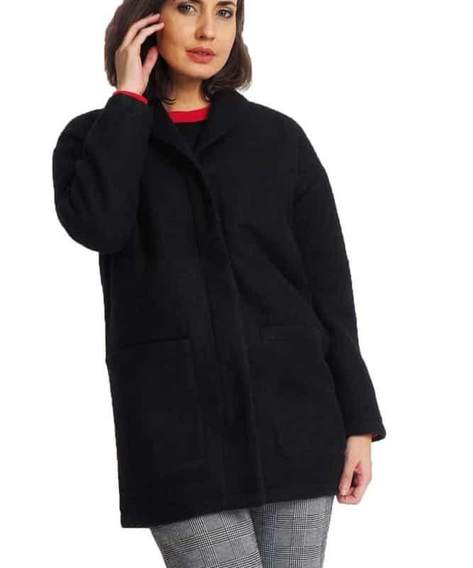 Rock Angel kabát női wool share black