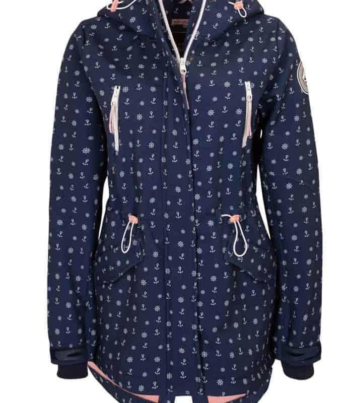 Sublevel kabát női softshell allover print anchor