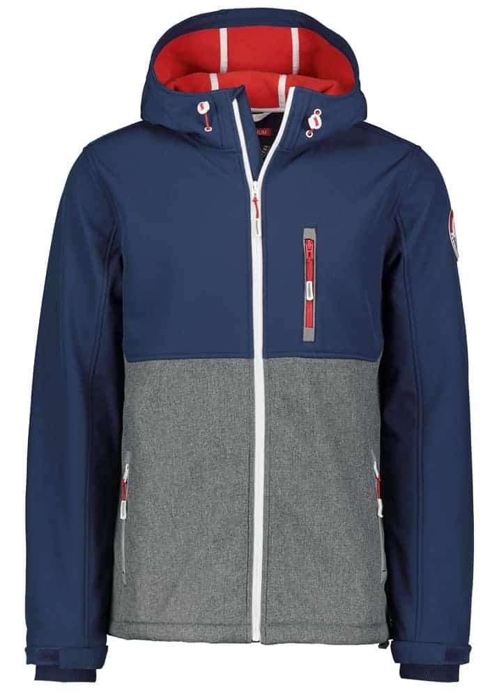 Stitch & Soul kabát férfi (Germany) soft shell, blue grey, S