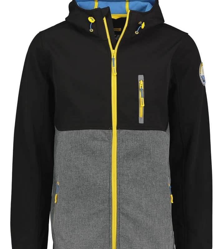 Stitch & Soul kabát férfi softshell, black-grey, S