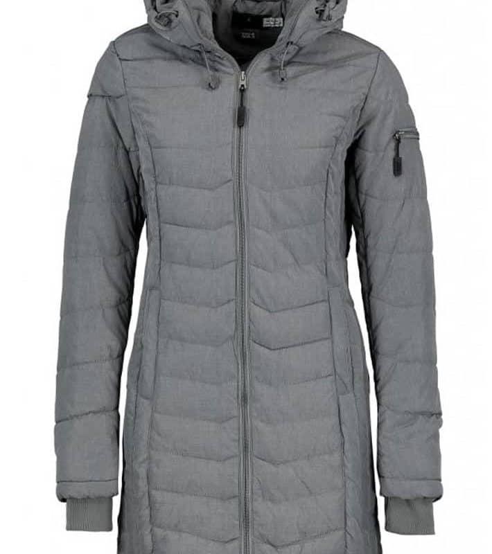 Sublevel kabát női steppelt hosszú dark grey, M