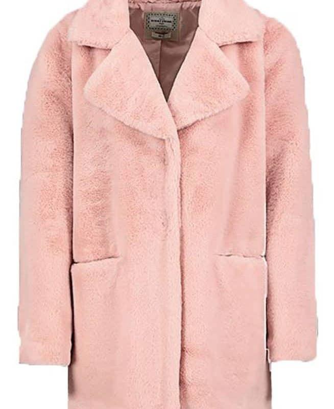 Eight2Nine kabát női plüss light rose S/M