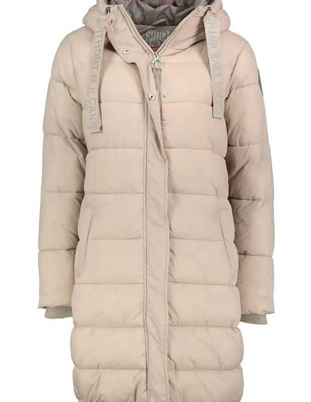 Stitch&Soul kabát női extra hosszú, dark beige