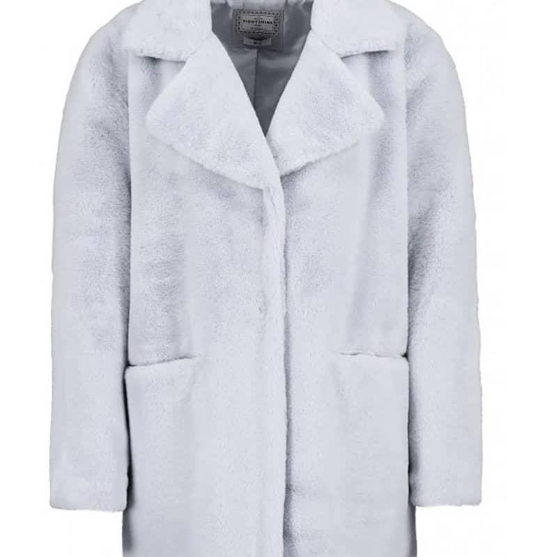 Eight2Nine kabát női plüss light grey M/L