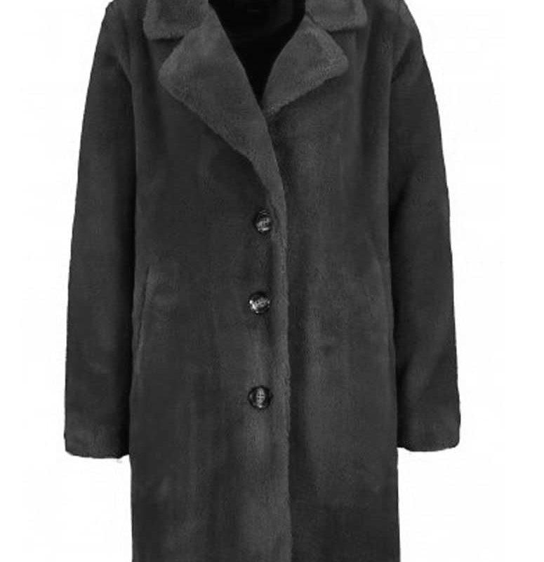 Eight2Nine kabát női plüss dark grey