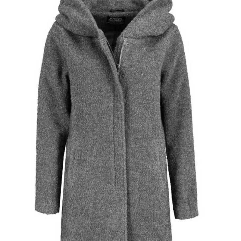 Sublevel kabát női boucle dark grey-melange, XL