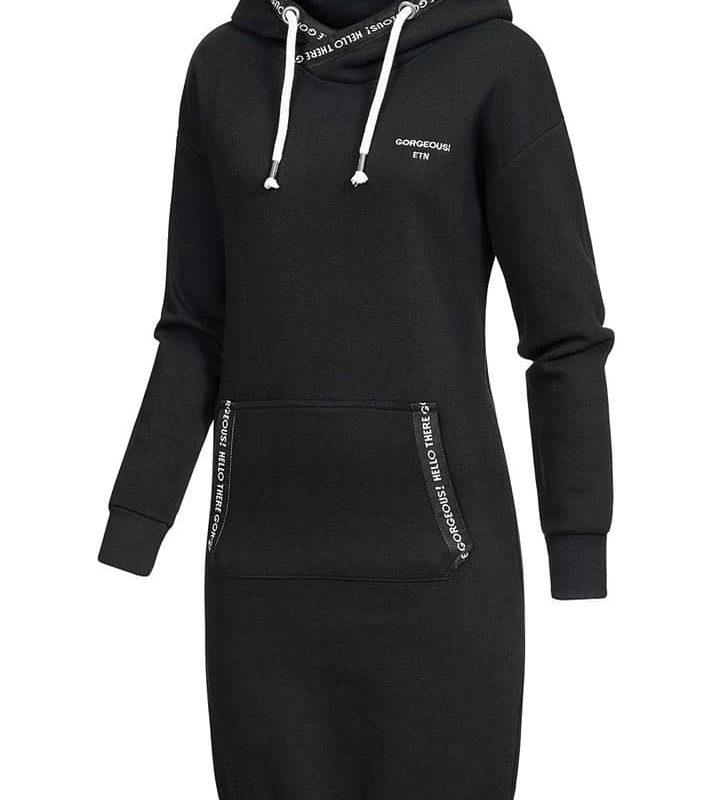 Eight2Nine pulóver női sweat dress, black