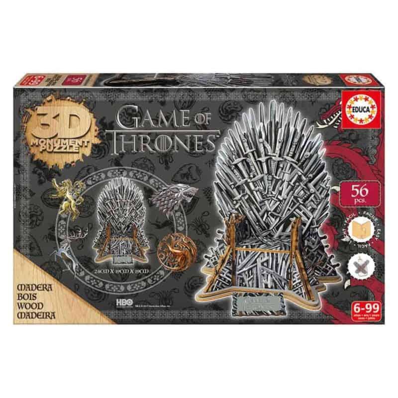 Game of Thrones Puzzle 3D Trónok harca gyerek játék