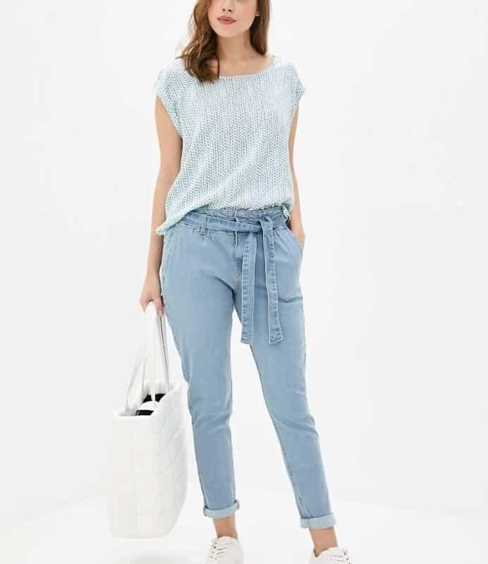 Fresh Made nadrág női farmer, girdle, light blue