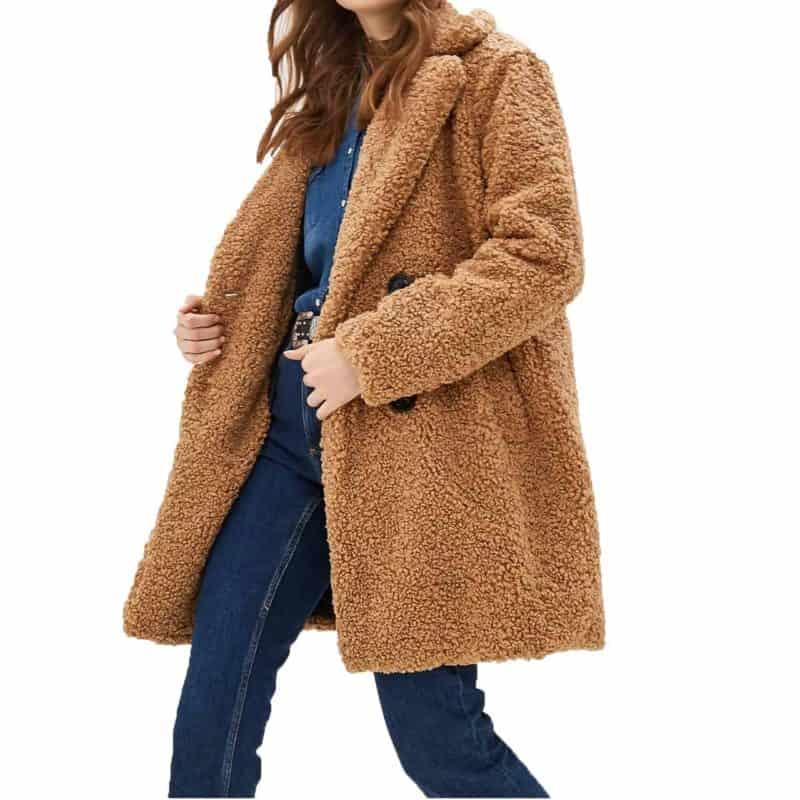 Sublevel kabát női gyapjú imitáció middle beige, S