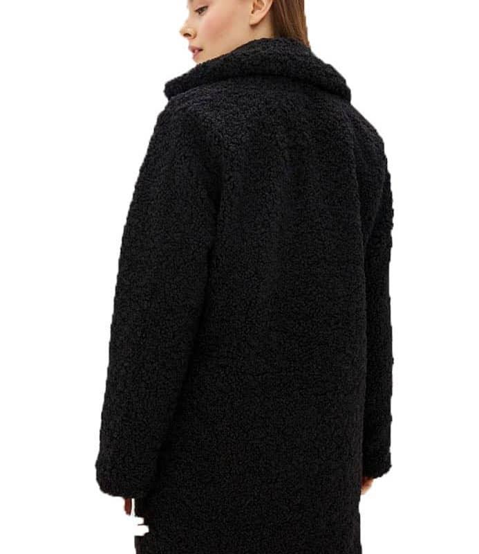 Sublevel kabát női gyapjú imitáció black