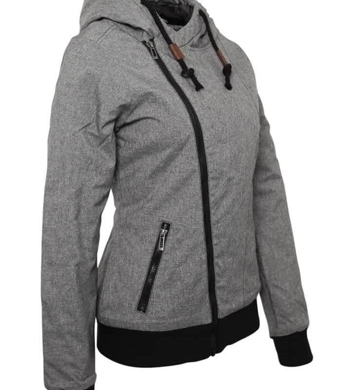 Sublevel kabát női ferde cipp, grey, 3XL