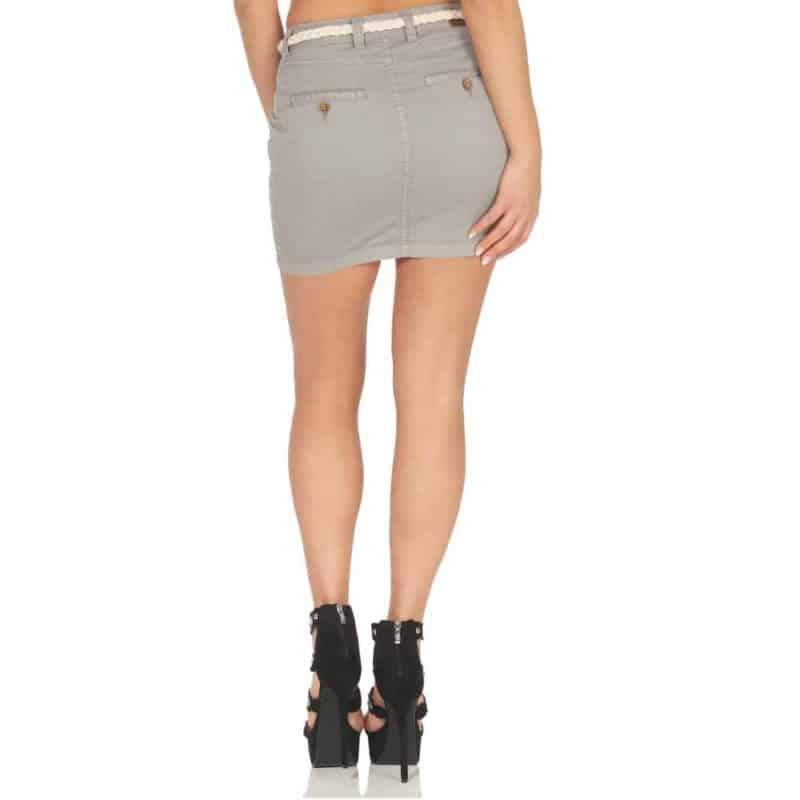 Eight2Nine szoknya női rövid middle grey