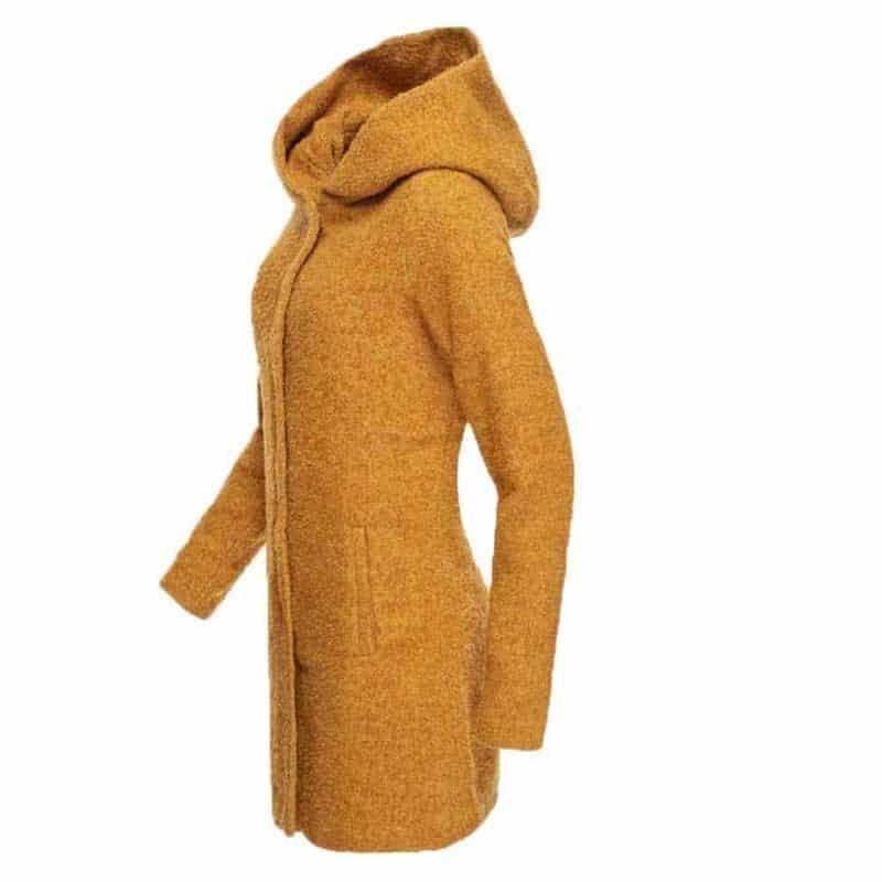 Sublevel kabát női boucle dark yellow