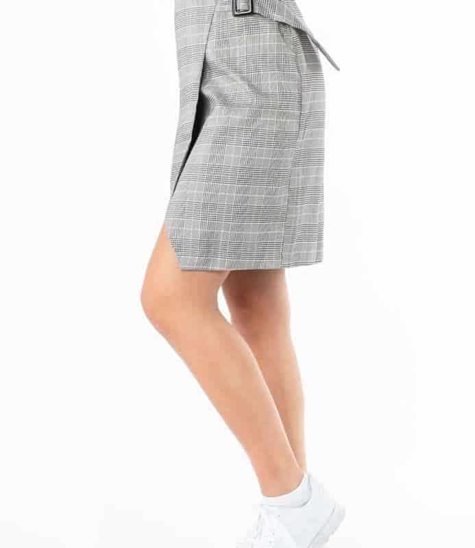 Sublevel szoknya női kockás, grey, S