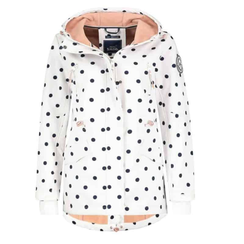 Sublevel kabát női softshell  allover print, white
