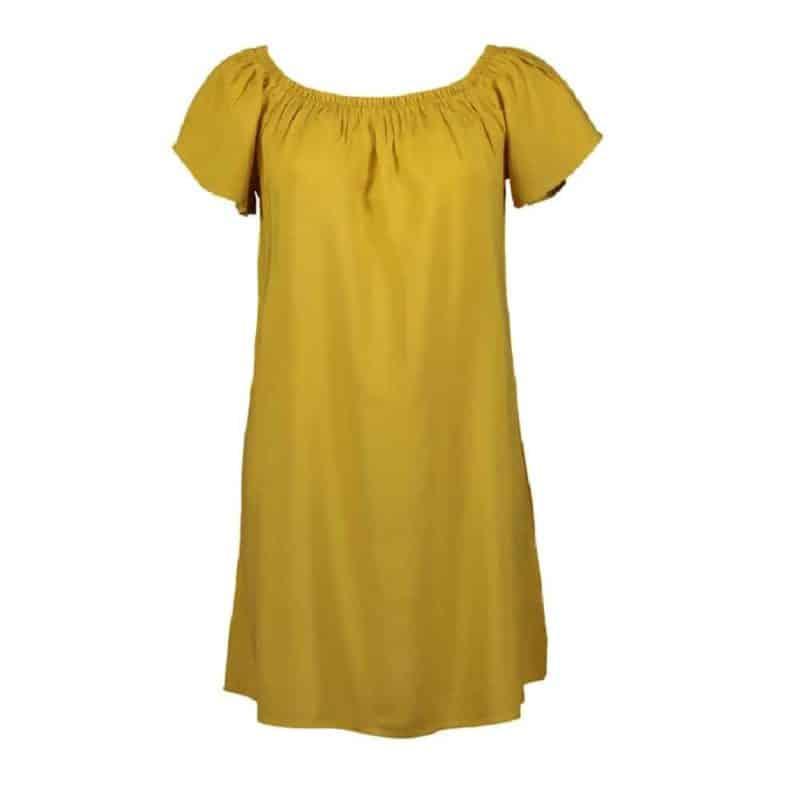 Fresh Made ruha női mini, carmen, dark yellow