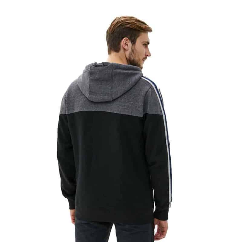 Sublevel pulóver férfi kardigán (Germany) cipp, black, XXL