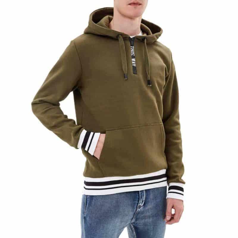 Sublevel pulóver férfi hoodie (Germany) dark green, M