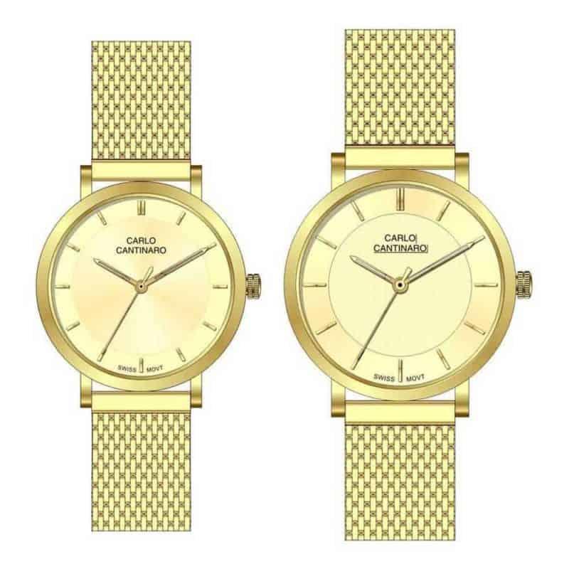 Carlo Cantinaro CC3001SM004 Partnerset Ladies Watch Mens Watch