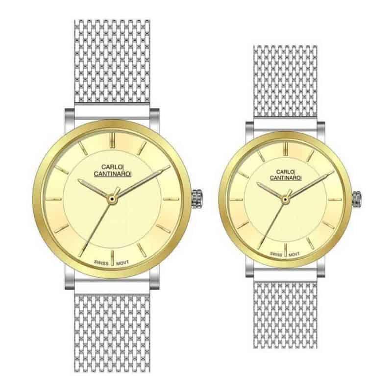 Carlo Cantinaro CC3001SM005 Partnerset Ladies Watch Mens Watch
