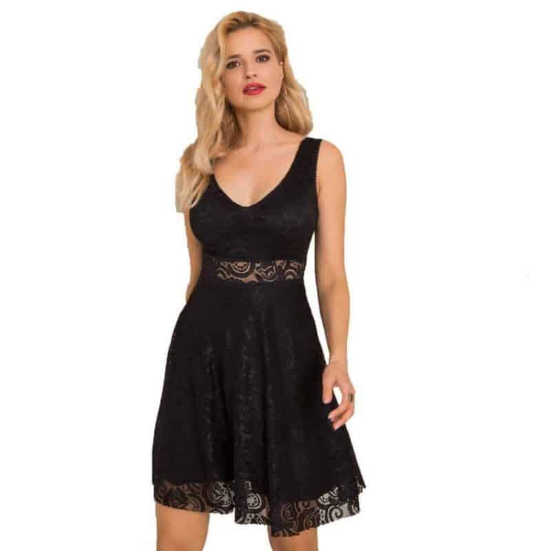 Sublevel csipke ruha női, black, L/XL