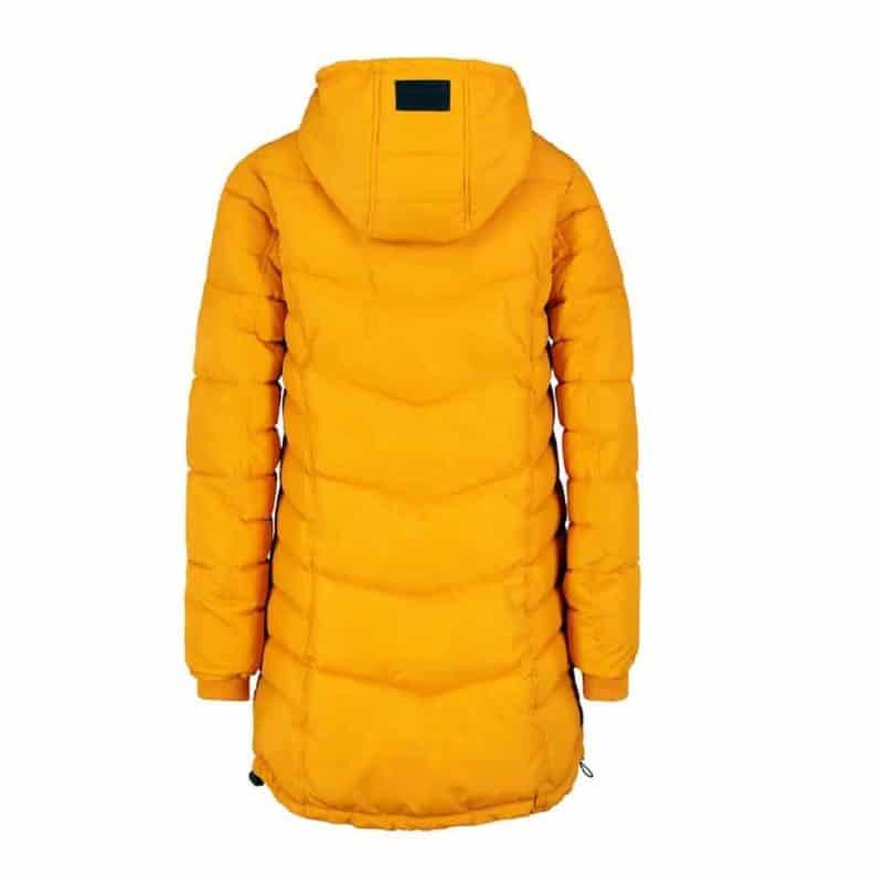 Sublevel kabát női, sportos, steppelt, dark yellow, S