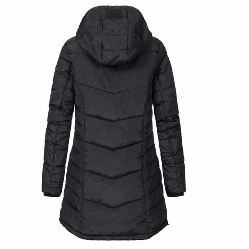 Sublevel kabát női, sportos, steppelt, black