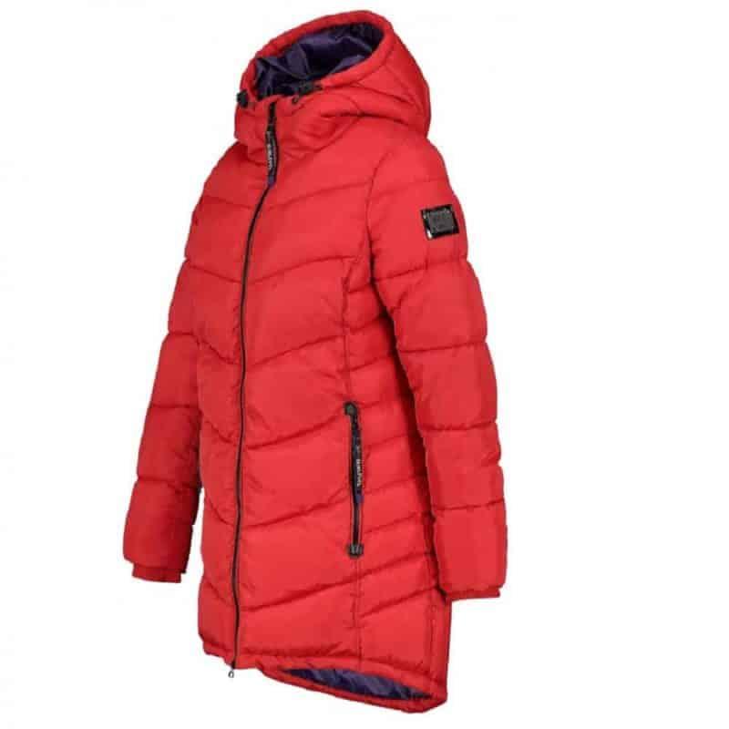 Sublevel kabát női, sportos, steppelt, middle red