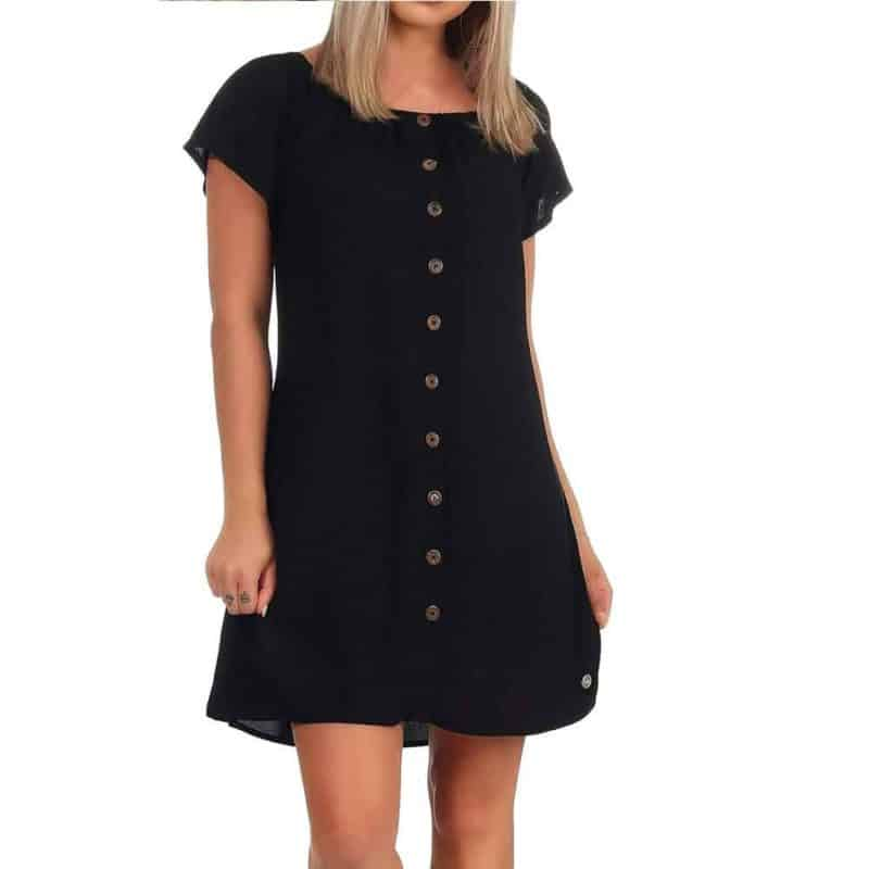 Eight2Nine nyári carmen ruha női, black, L