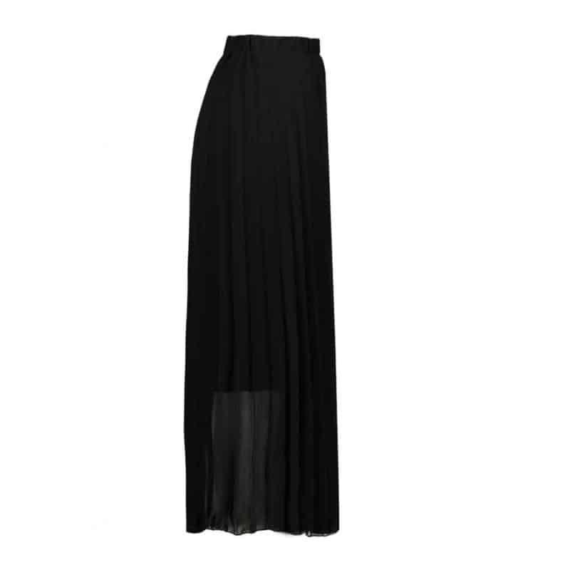 Sublevel szoknya női rakott, plissee , chiffon, black