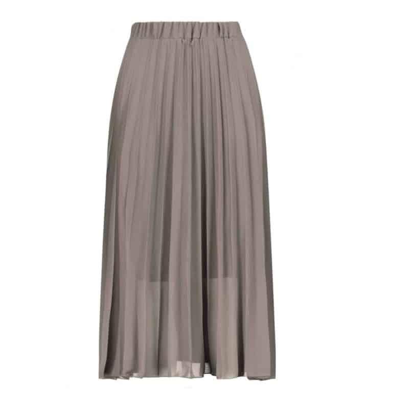 Sublevel szoknya női rakott, plissee , chiffon, dark beige, L
