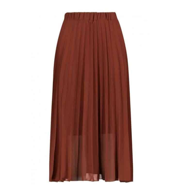 Sublevel szoknya női rakott, plissee , chiffon, dark red