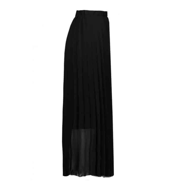 Sublevel szoknya női rakott, plissee , chiffon, black, L/XL