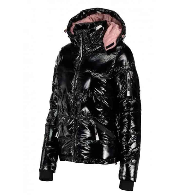 Sublevel dzseki női, steppelt, magas fényű, black
