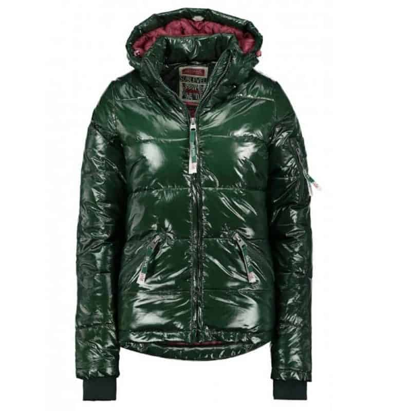 Sublevel dzseki női, steppelt, magas fényű, green, M