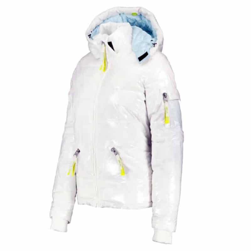 Sublevel dzseki női, steppelt, magas fényű, white