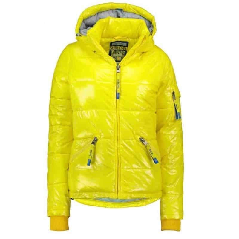 Sublevel dzseki női, steppelt, magas fényű, yellow, M