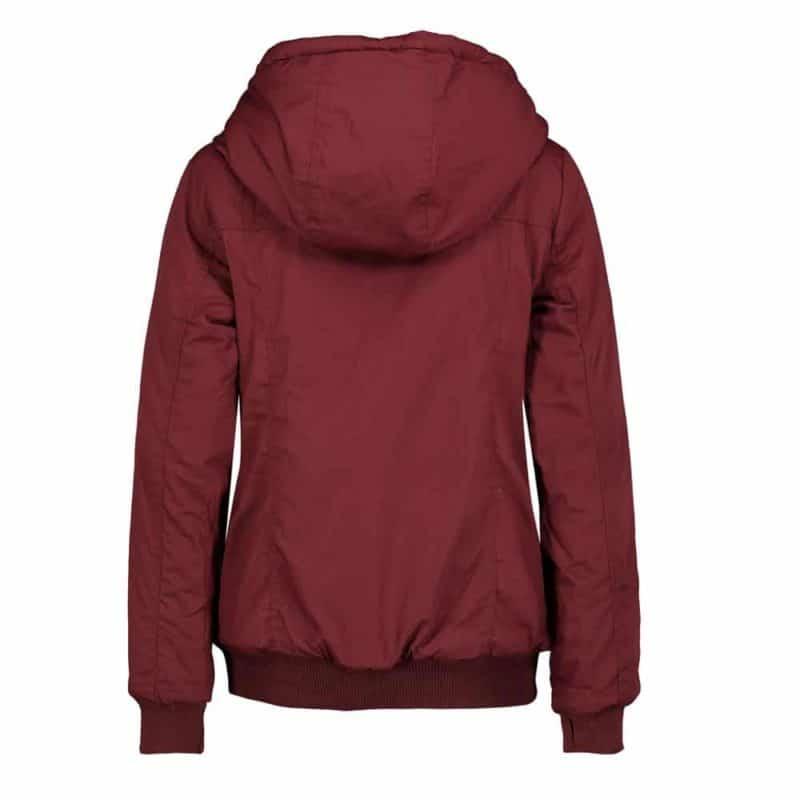 Sublevel kabát női, ferde cipp, microfaser, red