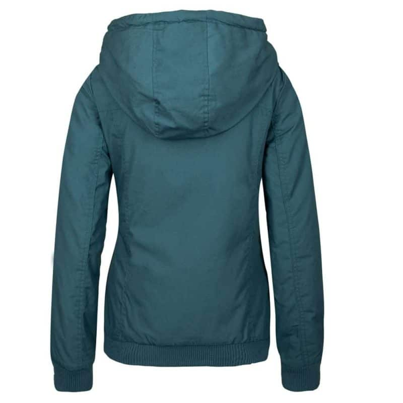Sublevel kabát női ferde cipp, microfaser, green