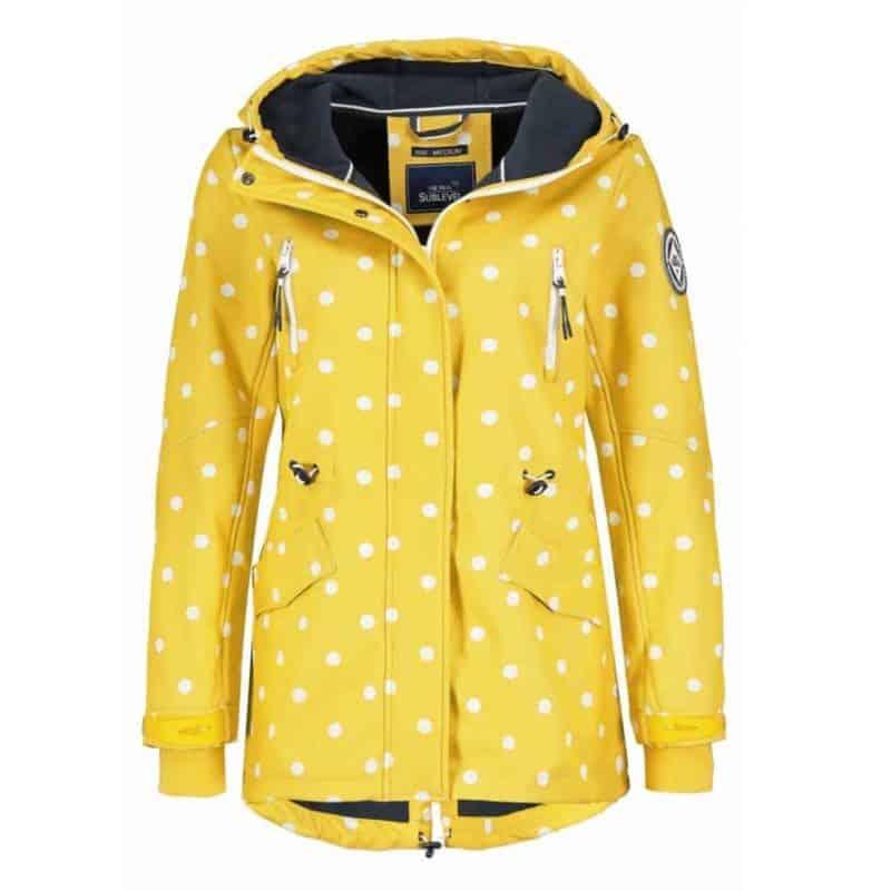 Sublevel kabát női softshell  allover print, yellow