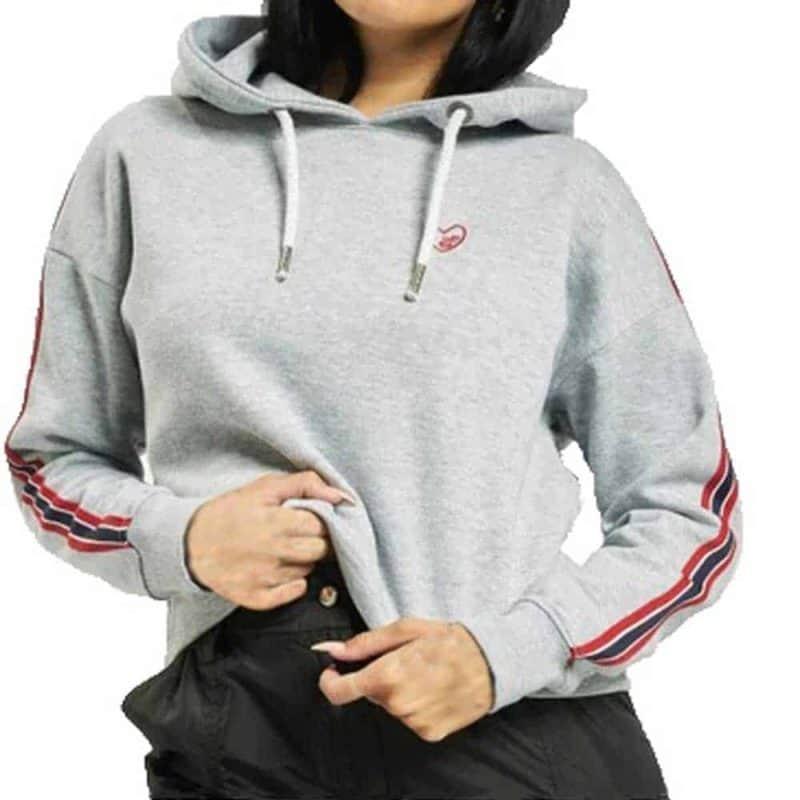 Eight2Nine pulóver női rövid hoodie, light grey, XS