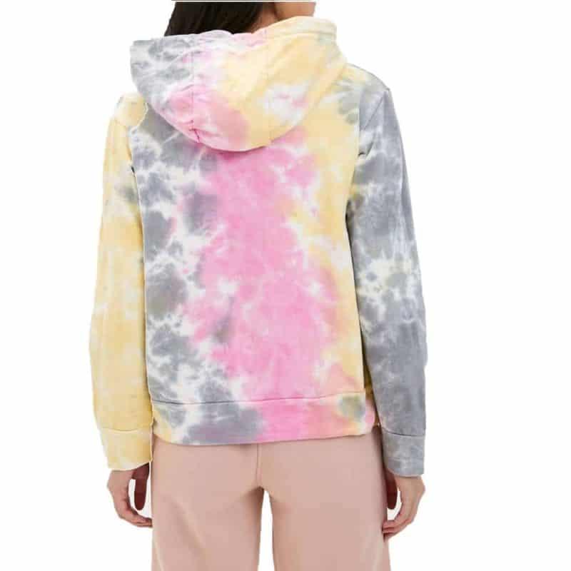 Rock Angel pulóver, női batikolt hoodie, light yellow, L